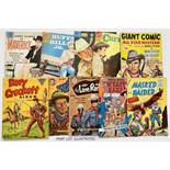 WDL Western Classics (1958) 11, 19, 25-28, 30, 32. With Giant Comic All Star Western 14, Davy