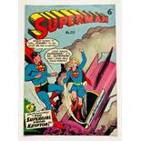 Superman 113 (K.G. Murray Australian reprints 1950s). Reprinting the cover of U.S. Action # 252, the