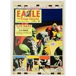 Dan Dare original front cover artwork (1969) by Keith Watson for The Eagle Vol: 15, No 52. As