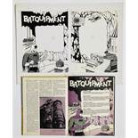 'Batquipment' original two page artwork by John Leeder from the Batman Story Book Annual 1967.