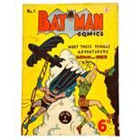 Batman 1 (1950 K.G. Murray Australian reprint). Small cover scrape, light tan pages [vg]