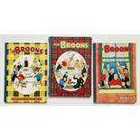 The Broons Books (1955, 1957, 1959). 1955 has a loose centrefold [vg], 1957 has a clear taped back