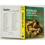 Biggles Looks Back (1965 1st ed Hodder & Stoughton). Clean, fresh hardback book with white pages and