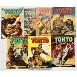 Tonto 1-15 (Early 1950s WDL UK reprints). No 1 has 'File copy' stamp to cover [vg+], 2 [gd], 5 [vg],