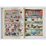 Beano (1946) 275-300. Complete year in bound volume. Dudley Watkins begins to sign his work with