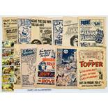 First issue promotional 4 page Pull Outs (1960s-80s) for Champion 1, 2, Giggle 1, Hoot 1, Jag 1,