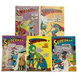 Superman (K.G. Murray 1950s) 112, 114-117 including 1st Lucy Lane, Supergirl meets Tommy Tomorrow