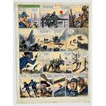 Riders of the Range original artwork drawn, painted and signed by Jack Daniel for The Eagle (1950-