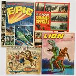 Lion Summer Spectacular Epic (No 1 1967). With Lion Summer Special No 2 (1968), No 3 (1969), No 4 (