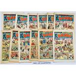 Dandy (1951) 476-481, 484, 486-489, 491, 492, 494, 496, 499, 500 (with cover signature, lower margin