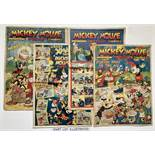 Mickey Mouse Weekly (1936-39). 1936: Nos 34, 47 Xmas, 1937: No 50, 1939: Nos 179-203 Xmas, 204 New