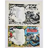 Batman title and contents pages artwork from Batman Story Book Annual 1969. Indian ink and half-tone