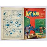 Batman 9 (1951 K.G. Murray Oz reprint). Bright cover, light tan pages. Bottom spine and lower corner