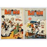 Batman 2, 3 (1950 K.G. Murray Oz reprints). No 2 has full length diagonal cover crease [vg], No 3