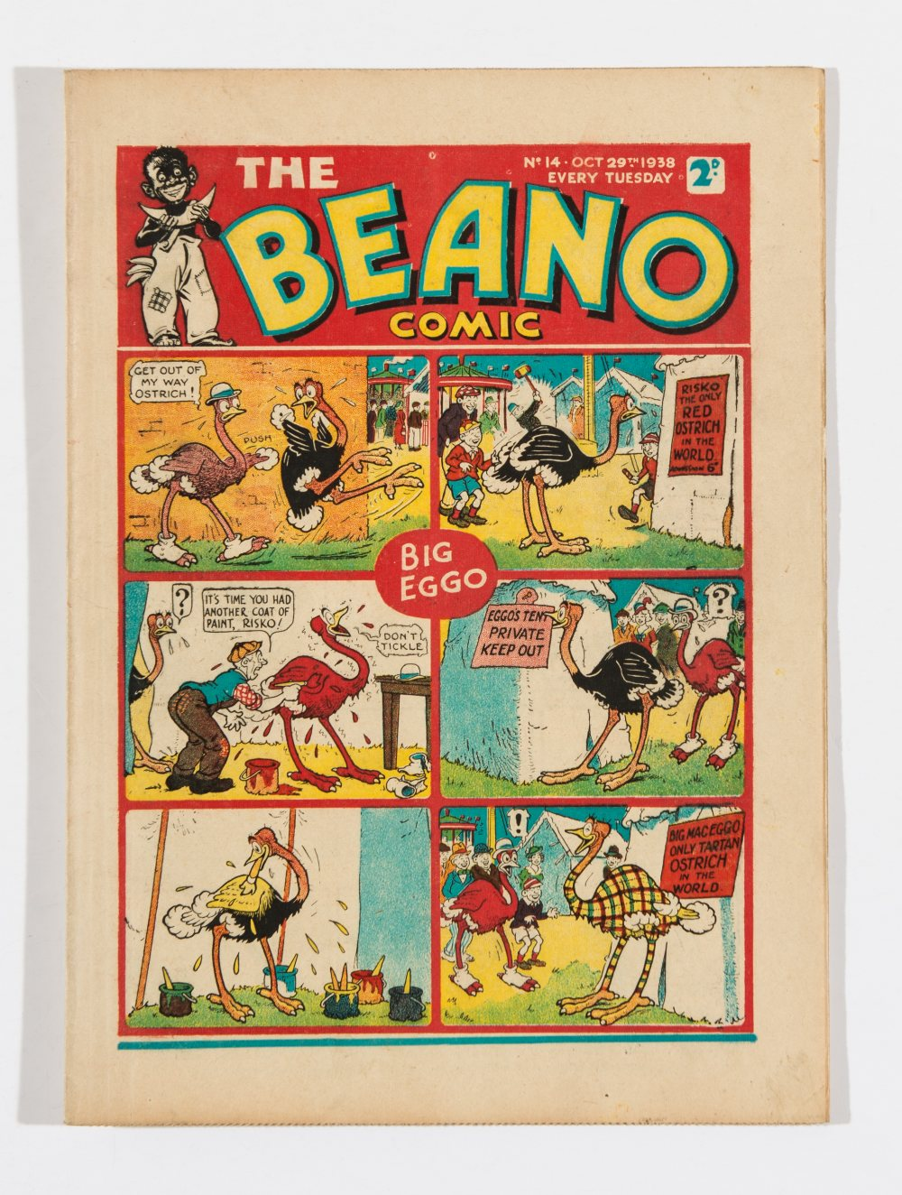 Lot 45 - Beano No 14 (1938). Bright, fresh covers, cream pages. Only a few copies known to exist [vfn]