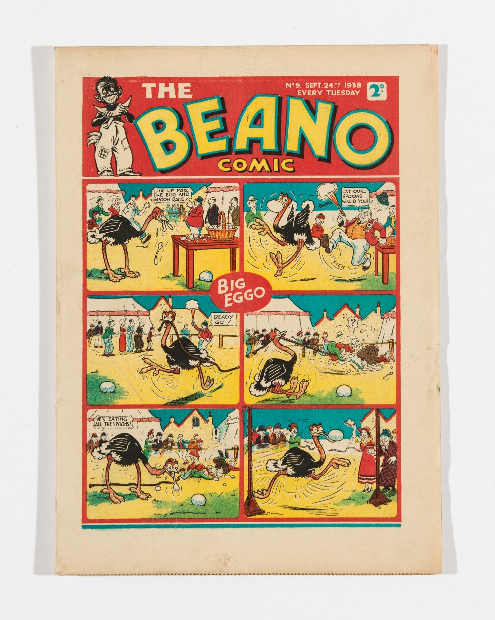Lot 40 - Beano No 9 (1938). Bright, fresh covers, cream pages. Only a handful of copies known to exist [vfn]