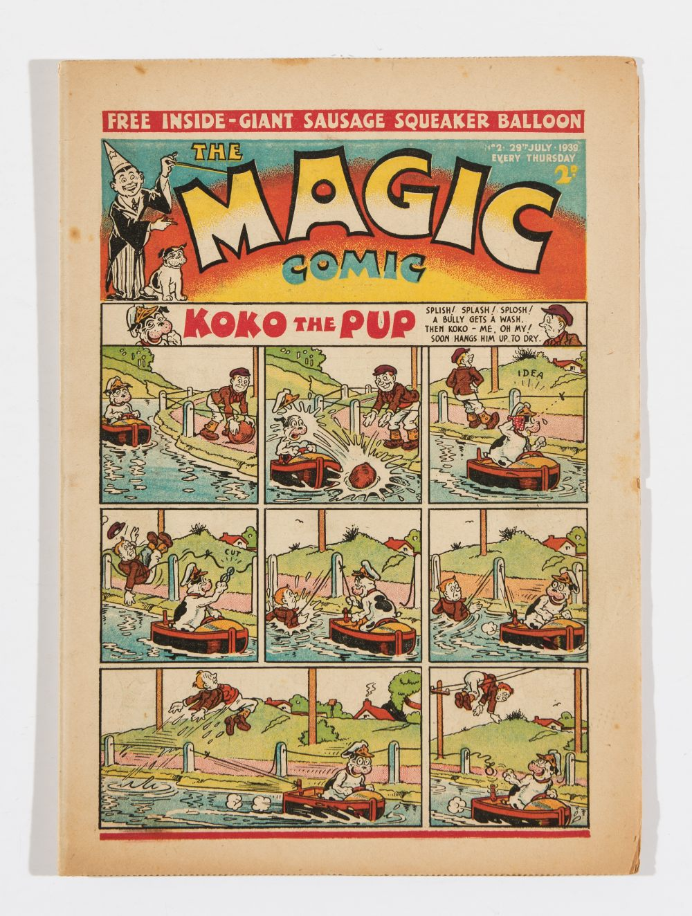 Lot 34 - Magic No 2 (1939) Koko The Pup by E H Banger and Peter Piper by Dudley Watkins. Bright fresh cover