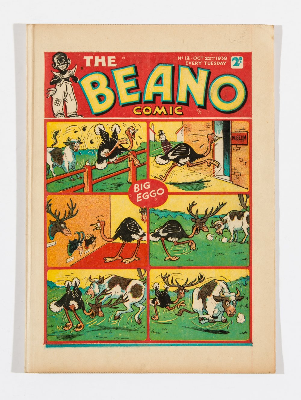 Lot 44 - Beano No 13 (1938). Bright, fresh covers, cream pages. Only a few copies known to exist [vfn]