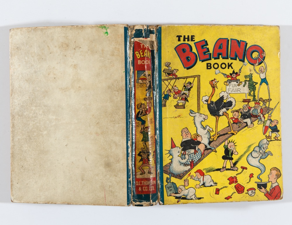 Lot 46 - Beano Book 1 (1940). Pansy Potter balances the Beano bunch. Bright boards with spine hinge wear. 2