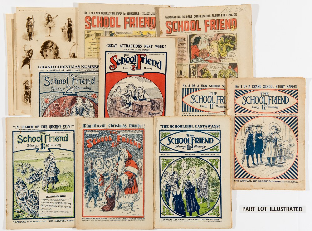 Lot 3 - School Friend (1919-1923) 1-200. With 5 free gift art plates. Introducing Bessie Bunter and the