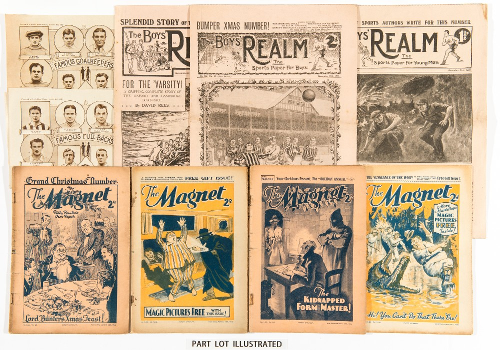 Lot 2 - Boys' Realm (1920-22) 45-57 and 44 issues between 59-201 with 2 free gift picture plates of Famous