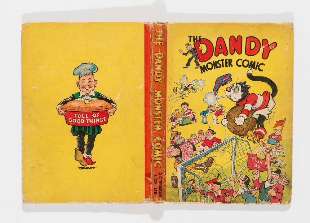 Lot 27 - Dandy Monster Comic (1944). Goalkeeper Korky. Good boards with edge and hinge wear and rounded