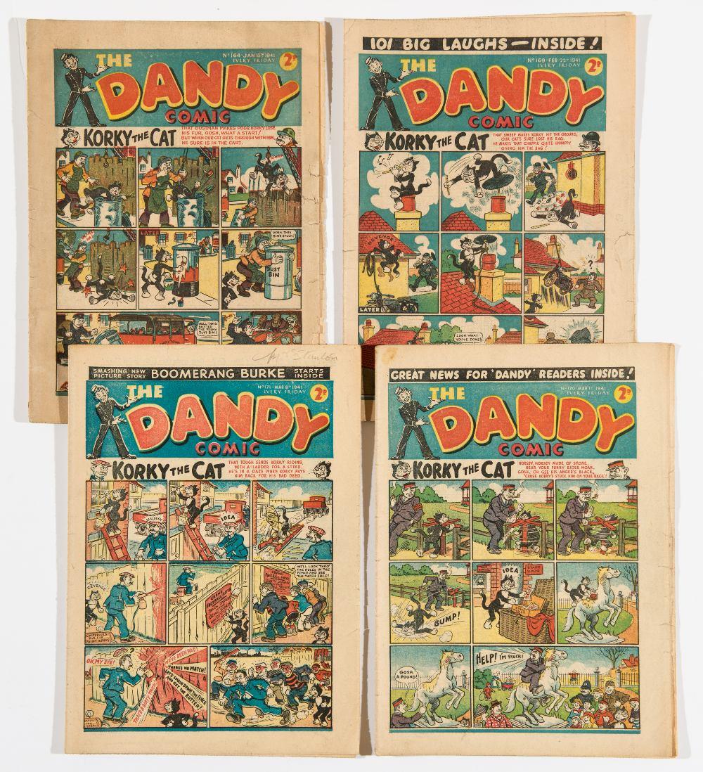 Lot 15 - Dandy (1940) 164, 169, 170, 171. Propaganda war issues. 170 last Addie and Hermy. 164 [gd],