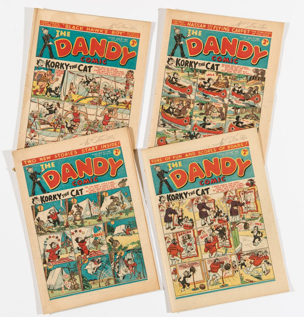 Lot 20 - Dandy (1940) 191-194. Bright covers, cream/light tan pages. 191, 194 [vg], 192, 193 [fn] (4)