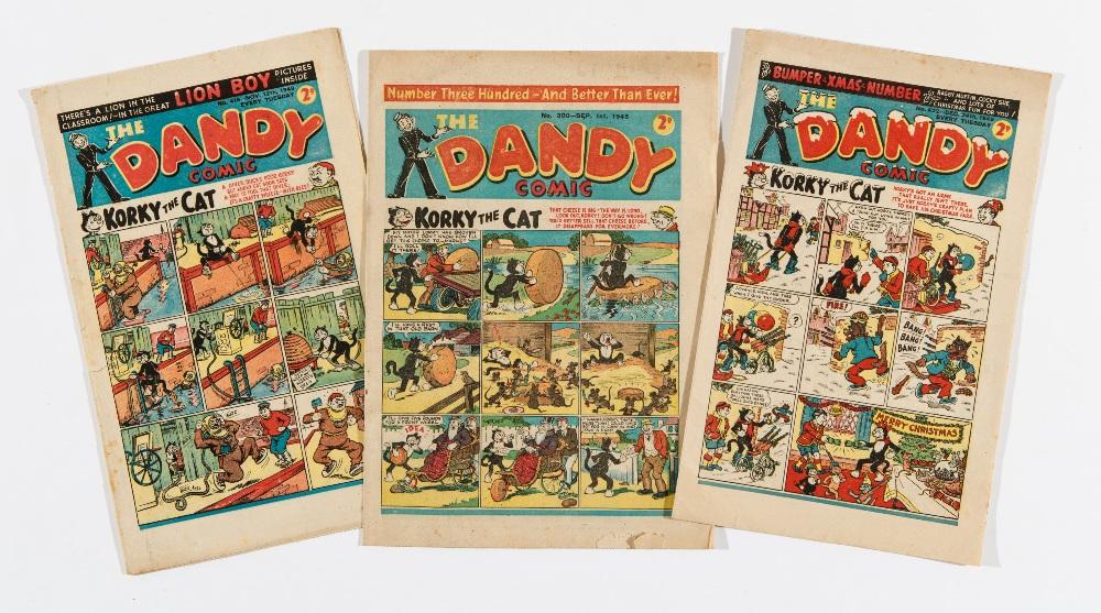Lot 29 - Dandy (1945) 300, (1949) 416, [both vg], 422 Xmas [fn] (3)
