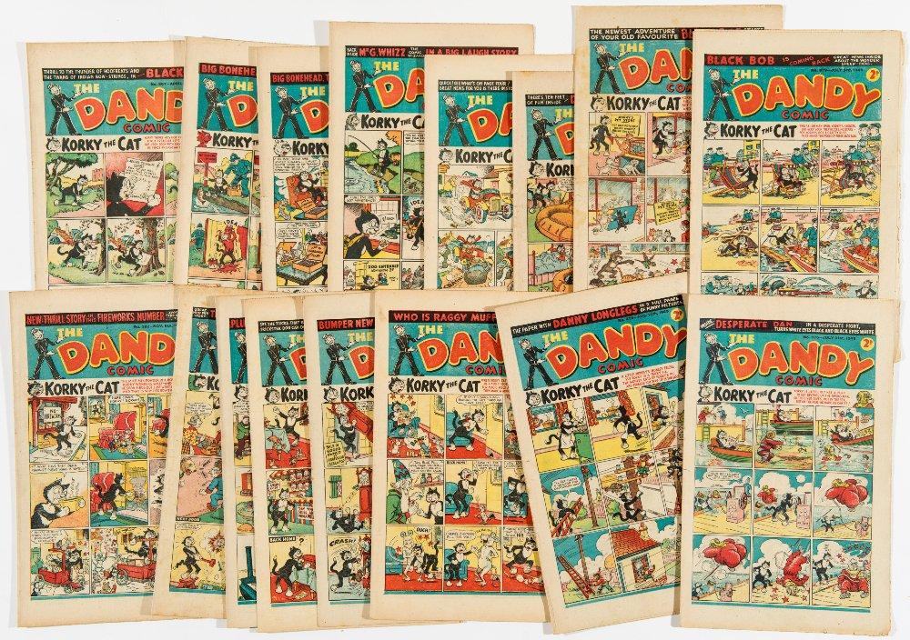 Lot 32 - Dandy (1948) 367-382 April 10 - Nov 6 Fireworks unbroken run.  Danny Longlegs second series by
