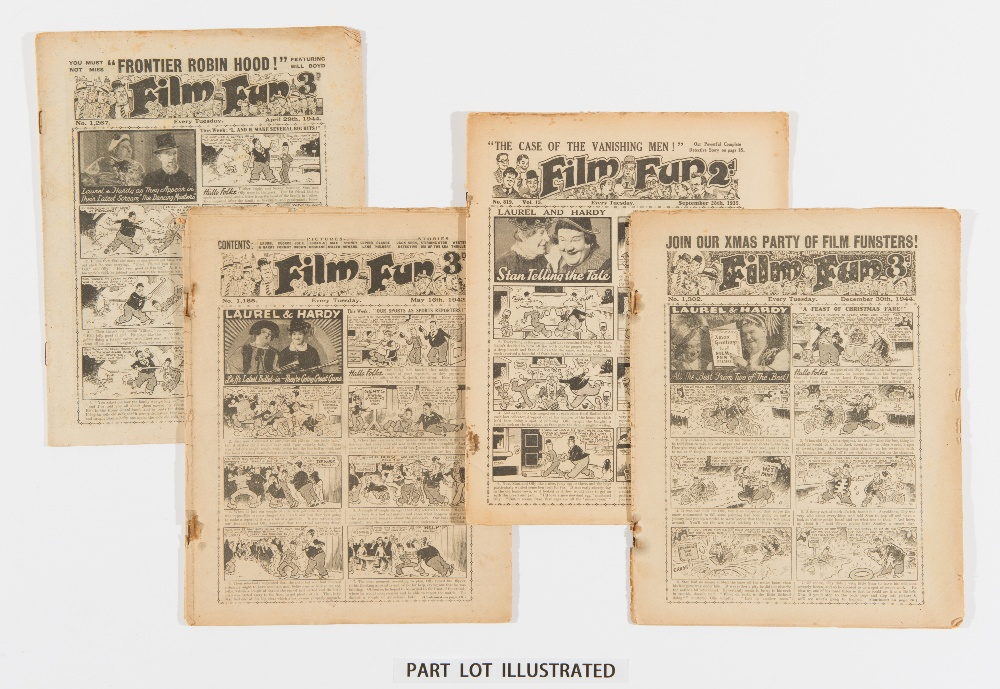 Lot 6 - Film Fun (1935-44). Starring Laurel & Hardy, Buck Jones and George Formby. 1935-37: 7 issues, 1940-