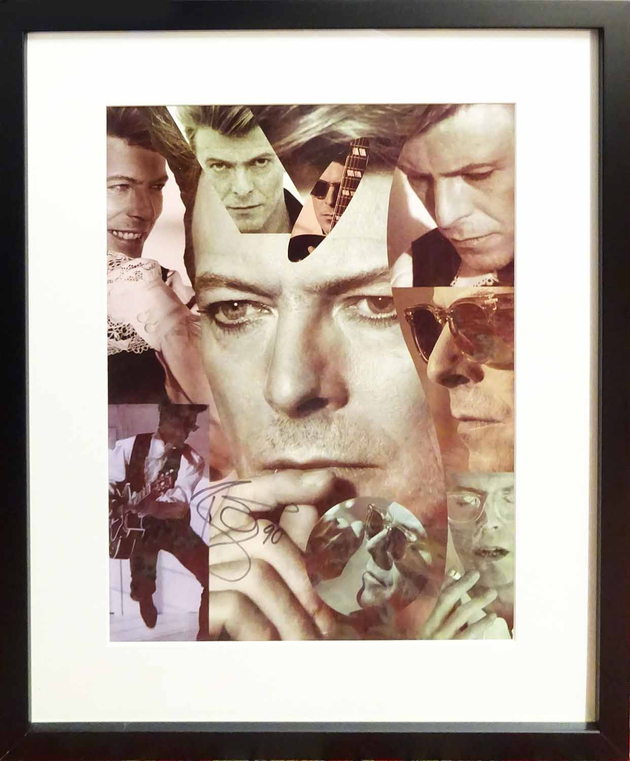 Lot 32 - DAVID BOWIE 1990 - signed 'Sound and Vision Tour' program page, signed in ink, 40cm x 30cm,