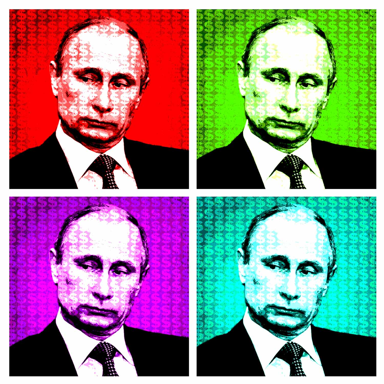 Lot 10 - DOLLARSANDART 'Putin', from the Russian Di$ruptive collection, German etching, AP signed,