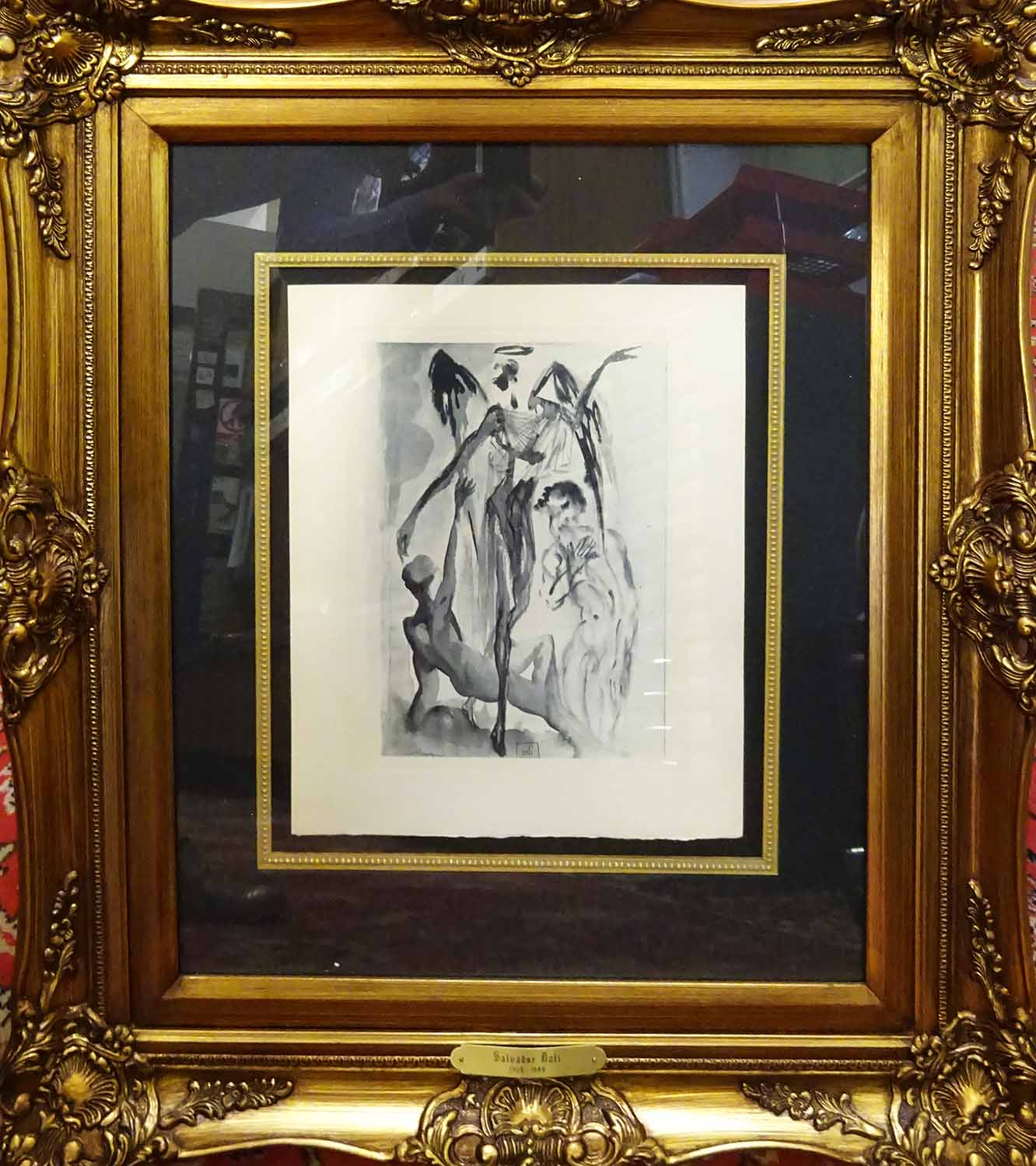 Lot 13 - After SALVADOR DALI 'The Proud One', engraving, with signature in the plate,