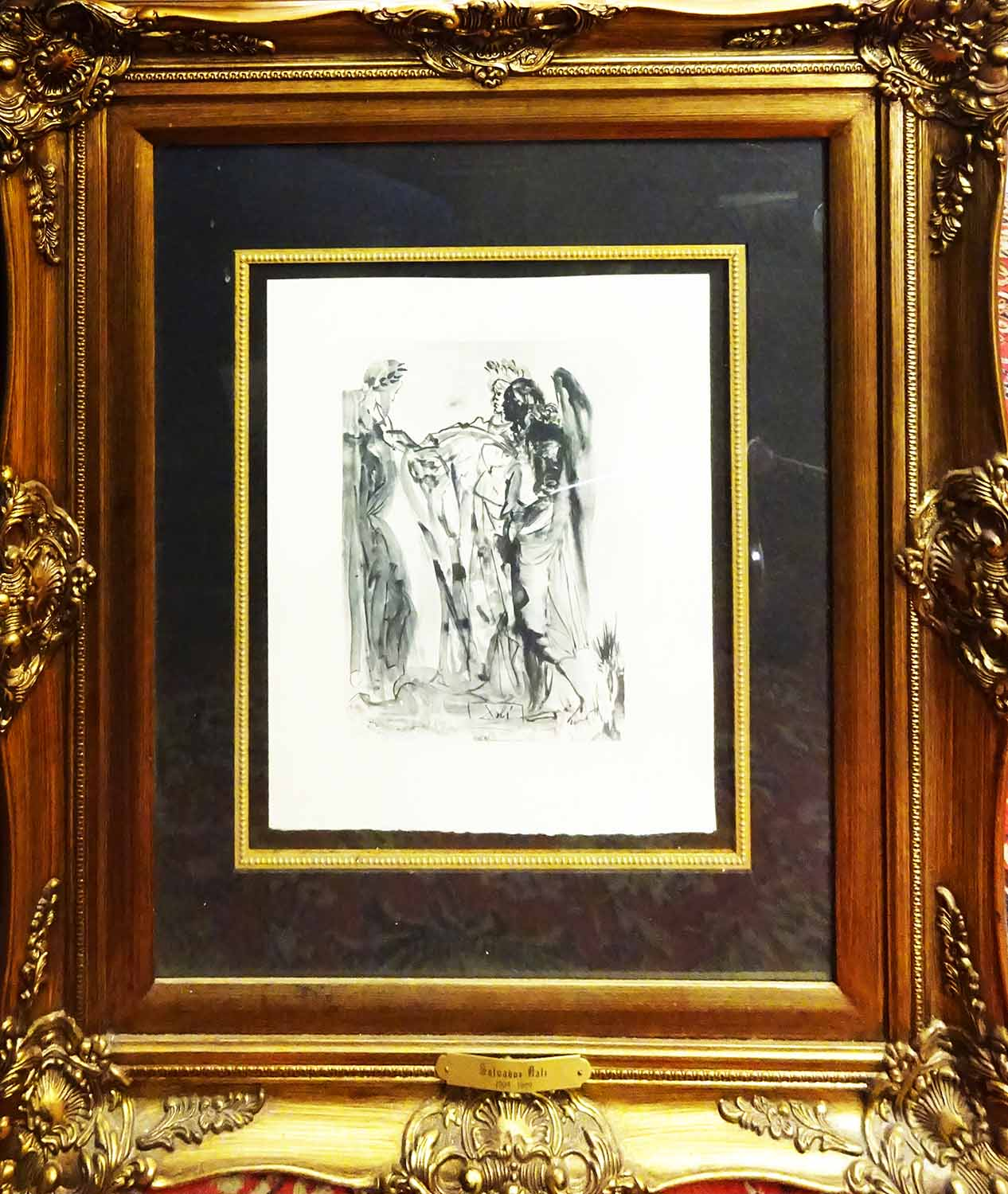 Lot 14 - After SALVADOR DALI 'The Haughty-Purgatory', engraving, with signature in the plate,