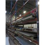 "SECTIONS - BLUE & ORANGE STEEL 44"" X 104"" X 23'H PALLET RACKING (92 STRINGERS TOTAL)"