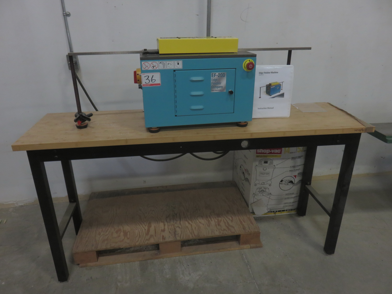 EDGE FINISHER EF-200 TABLE TOP PLASTIC EDGE SMOOTHER & CLEAR FINISHER