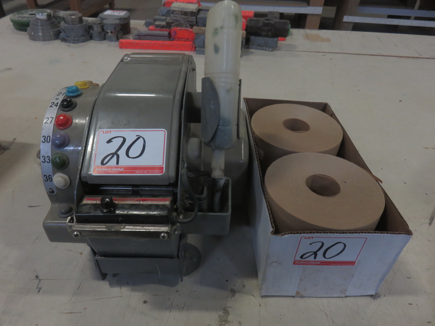 BETTER PACK 555L SELECTIVE SIZE PAPER GUMMED TAPE MACHINE