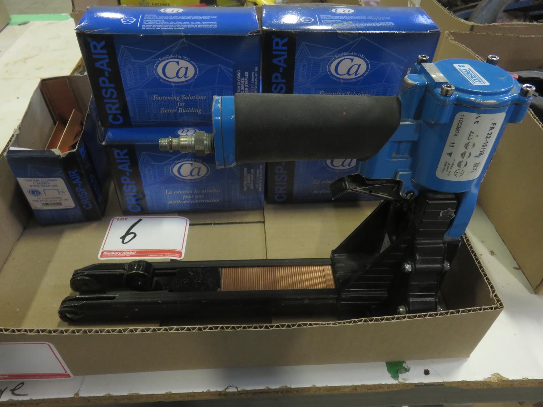LOT - FASCO F23-15/18 PNEU CARTON STAPLER C/W 6-BOXES OF STAPLES