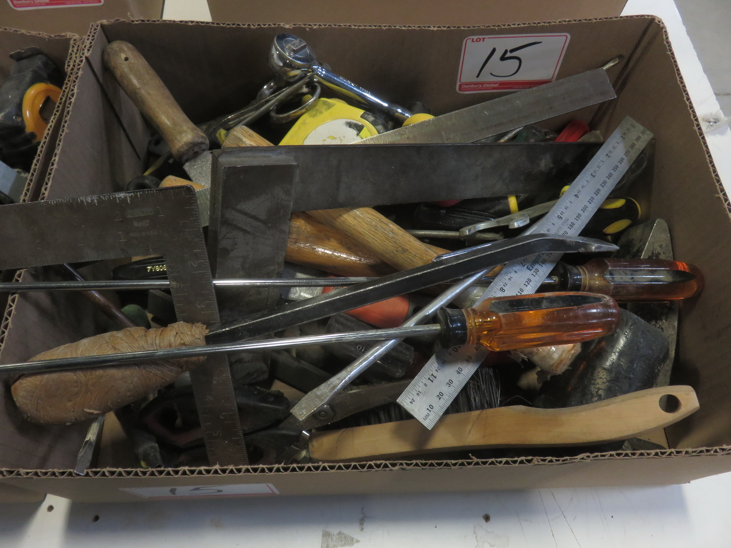 LOT - SOCKETS, TAPE MEASURES, HAMMERS, & ASSTD TOOLS - Image 2 of 2