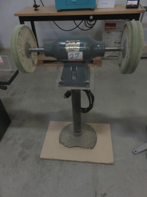 BALDOR 1.5HP DUAL HEAD SINGLE PEDESTAL BUFFING MACHINE (208-230-430V)