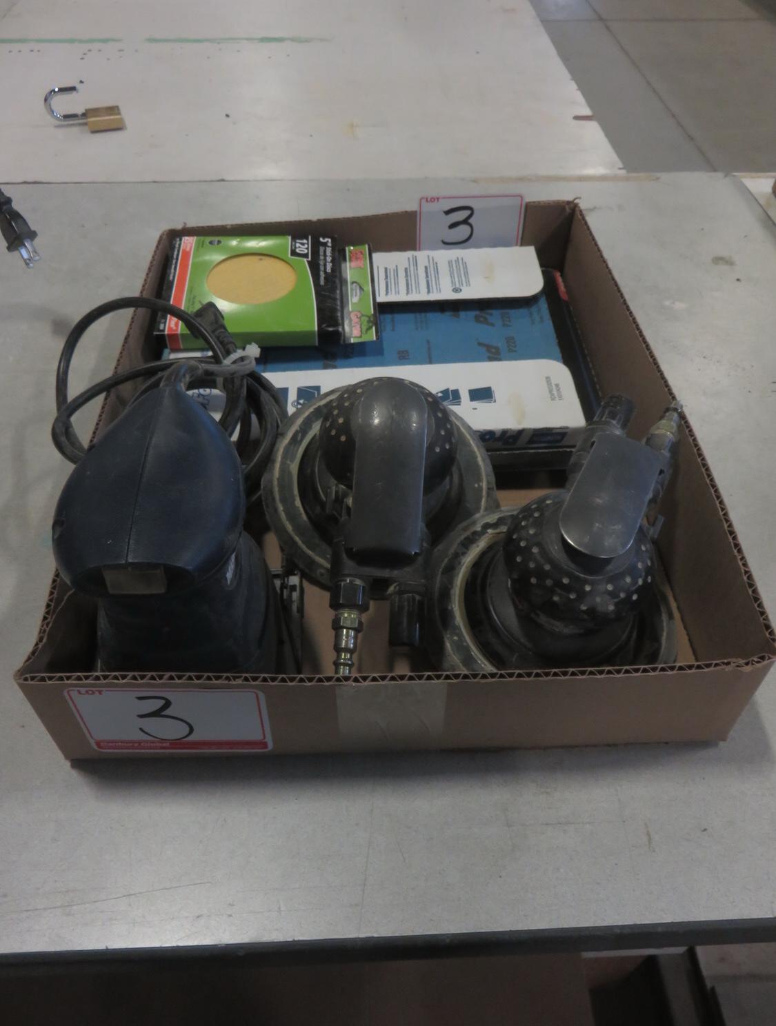 LOT - MASTERCRAFT & INGERSOLL RAND ASSTD ELECTRIC & PNEUMATIC SANDERS