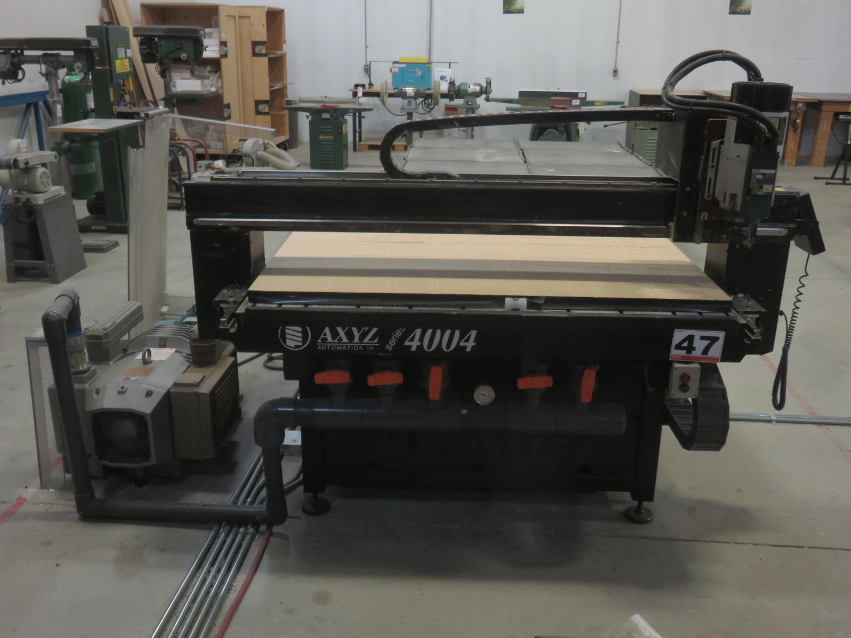 "AXYZ MODEL 4004 CNC ROUTER W/ 2004 BECKER VTLF 250 SK VACUUM PUMP, ES915 ROUTER & 72"" X 60"" TABLE"
