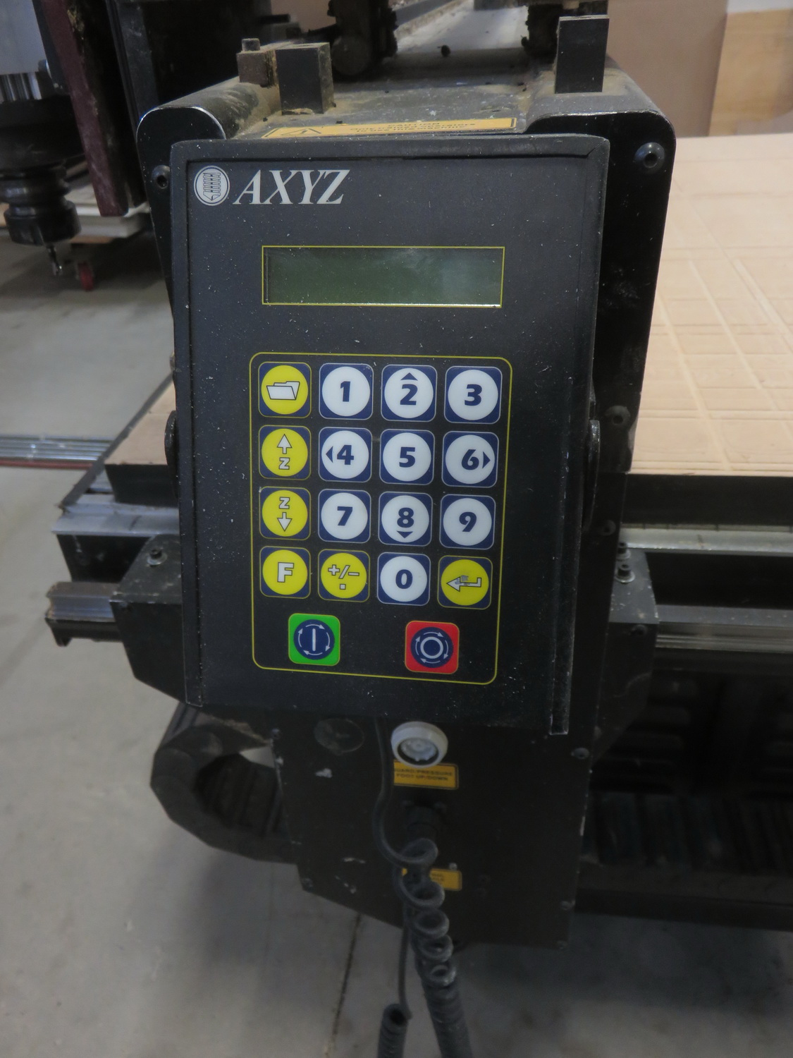 """AXYZ MODEL 4004 CNC ROUTER W/ 2004 BECKER VTLF 250 SK VACUUM PUMP, ES915 ROUTER & 72"""" X 60"""" TABLE - Image 4 of 8"""