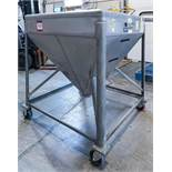 6 Mueller Powder Bins on Wheels and 1 Vibratory Deck