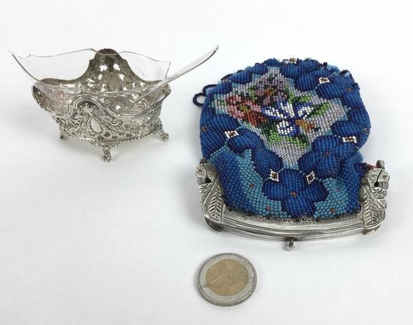 (Curiosa) Zilveren beurs en mosterdpotje, Nederland/DuitslandZilveren beurs en mosterdpotje, Ne - Image 2 of 8