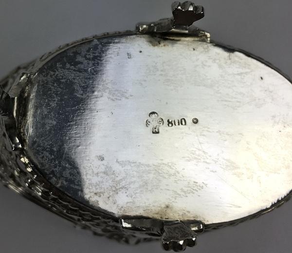 (Curiosa) Zilveren beurs en mosterdpotje, Nederland/DuitslandZilveren beurs en mosterdpotje, Ne - Image 8 of 8
