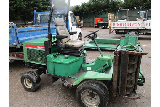 RANSOMES 213 TRIPLE MOWER KUBOTA ENGINE DRIVES AND MOWERS