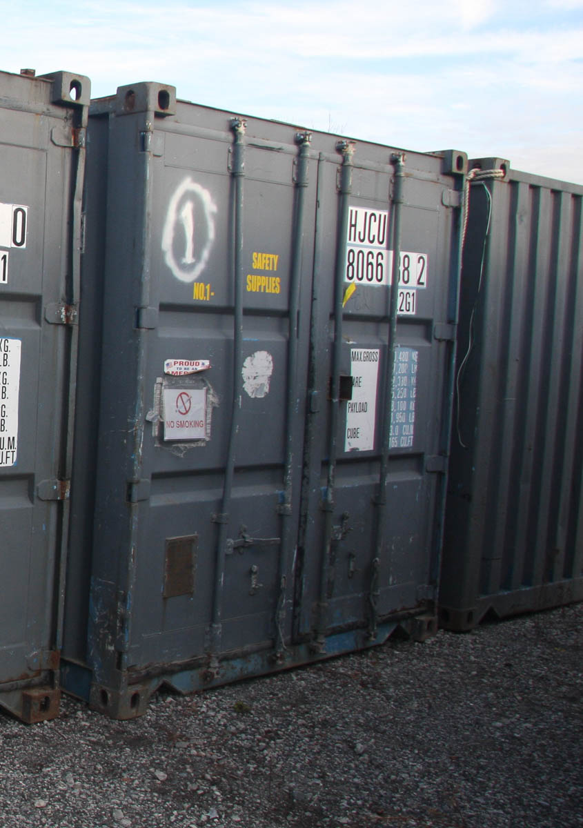 20' SHIPPING CONTAINER (#1) [LOCATED @ 6 CANAL ROAD, PELHAM, NY (BRONX)]