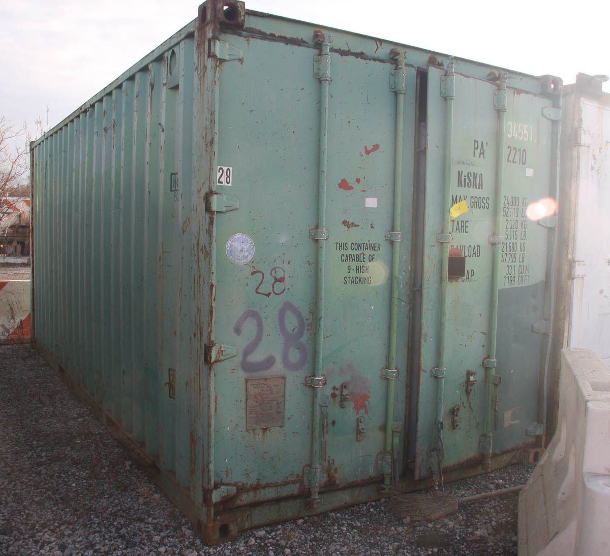 20' SHIPPING CONTAINER (#28) [LOCATED @ 6 CANAL ROAD, PELHAM, NY (BRONX)]